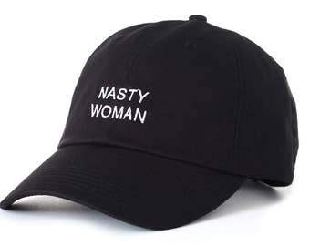 Black Dad Cap Nasty Woman Barack Obama Low Profile Hat **Free Domestic Shipping**