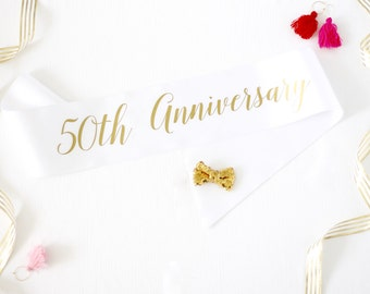 50th Anniversary Sash in Font #3 - Anniversary Sash - Milestone Sash - 50th Anniversary - Anniversary Party