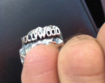 Sterling silver hollywood hills handmade ring.