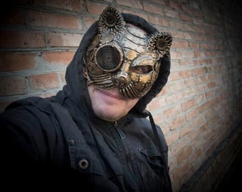steampunk  techno phantom mascarade mask Cat Halloween