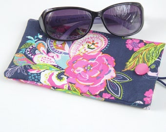 Sunglasses pouch, glasses case, reading glasses case, floral glasses case, gift for her, summer accessories, gift for teacher, mothers day