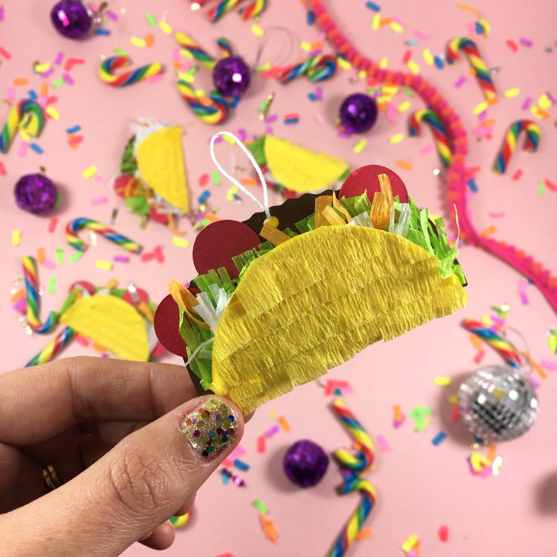 Mini Taco Pinatas 5 Taco Ornaments Fiesta Decorations