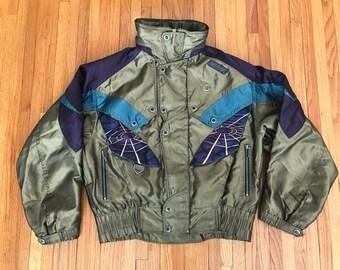 Vintage 90s Spyder Ski Tech Jacket. Size Medium