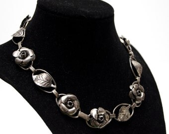 Sterling Siver Rose Necklace