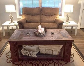 Hefty Rustic Coffee Table Plans