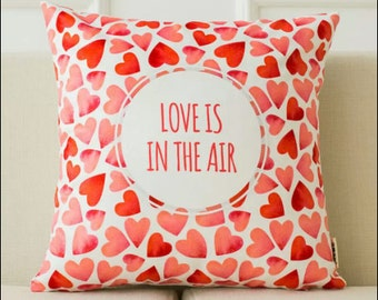 Decorative pillow cover/  Love cushion cover/  Valentine's day pillow throw/pillow sham