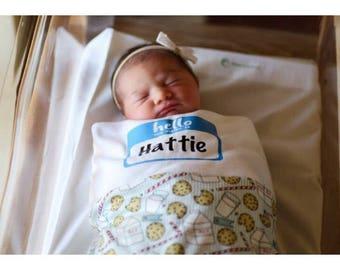 Newborn Hat add on- Cookies and Milk
