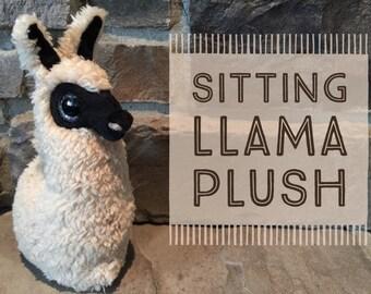 Sitting Llama Plush (black)