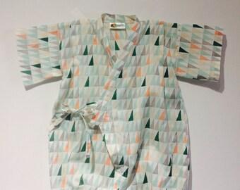 Akita Kimono Onesie / Sizes: 6M to 1yr.