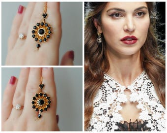 Earrings  Dolce  style - Gold&Peach