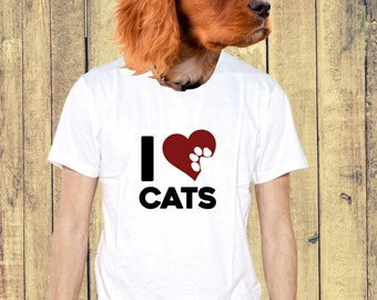 I love cats T-shirt for Cat fans lovers Tee MUF-12089