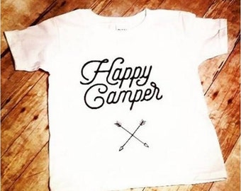 Happy Camper T-Shirt for kids- Camping- Fishing