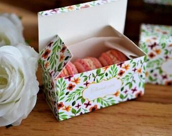 Candy Macaron Boxes - perfect as a gift! DIY // Printable