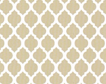 Khaki mini quatrefoil fabric from Fabric Finders, light brown quatrefoil fabric by the yard extra wide tan white quatrefoil quilting apparel