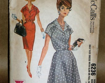 Vintage McCalls #6236 dress sewing pattern