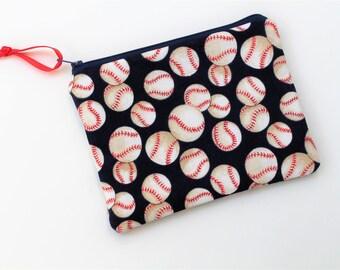 Baseball Makeup Bag, Pouch, Flat Pouch