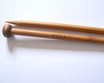 7mm knitting needles 6.5mm pair of wood knit needles
