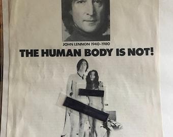 John Lennon PSA Hustler Mag 1981 Rare