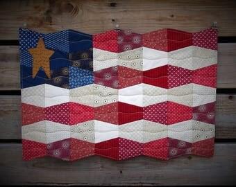 American Flag Door/Wall Quilt,Primitive Decor, Patriotic Decor,July Decor,Country Decor