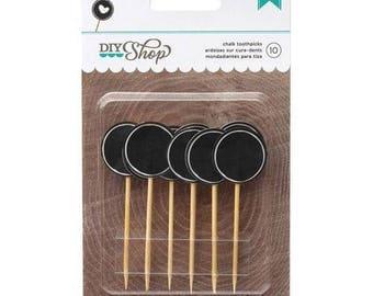 AC: Chalk Toothpicks, Round