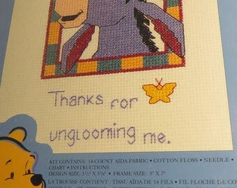 "Disney EEYORE counted cross stitch kit NEW never opened ""Ungloomy"""