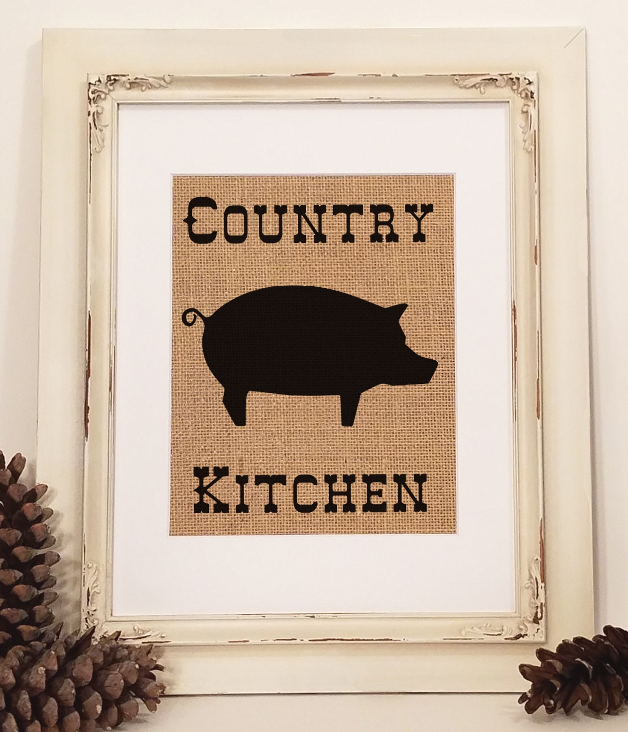 Country Kitchen Pig Kitchen Decor Rustic Kitchen By