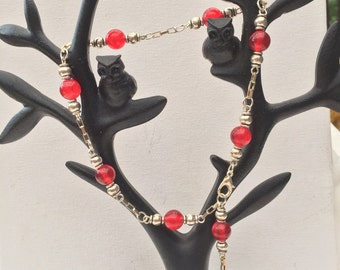 Red Ruby bead Anklet
