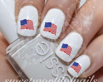 4th of july nails etsy for 4th of july nail art decoration flag