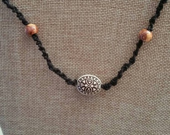 Beaded Macrame Necklace