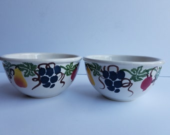 White with Fruit Chaparral Serving or Mixing Bowl
