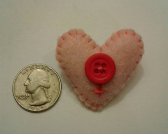 Female Heart pin