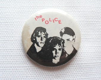 Vintage Early 80s The Police - Band Pin / Button / Badge