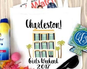 Charleston etsy south carolina party favors charleston bachelorette or girls weekend tote negle Images