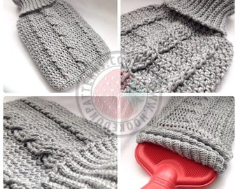 Cozy Cable Hot Water Bottle Cover - Crochet PDF Pattern