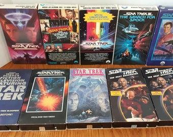 Star Trek VHS Tape Collection - Group of Ten Vintage Star Trek VHS Tapes - Star Trek Tapes for the VCR