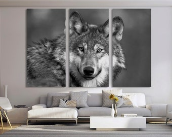 15 deep frames gray wolf canvas art - Wolf Picture Frames