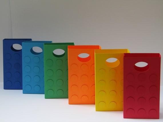 12 large lego theme party favor bag candy bag treat bag. Black Bedroom Furniture Sets. Home Design Ideas