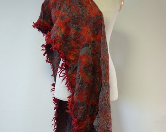 The hot price. Amazing felted shawl, perfect for gift.