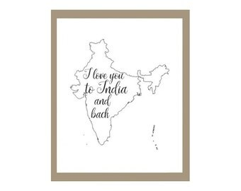 To India and Back Print, India Adoption Print, India Missionary Print, India Print, Adoption Print