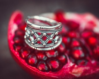 Ancient russian style ring / openwork ring / silver ring / historical ring