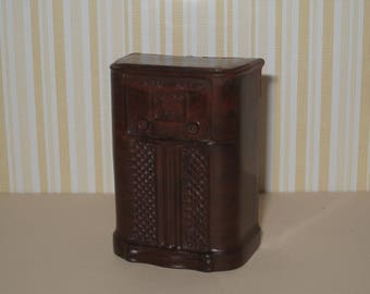 1950s Renwal Hard Plastic Dollhouse Furniture - Cabinet Radio