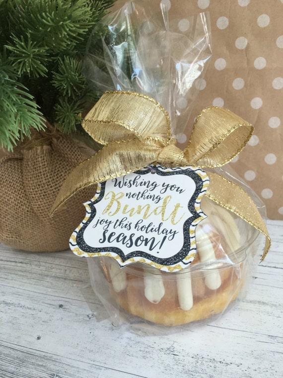 Holiday Bundt Cake Tags Wishing You Nothing Bundt Joy This