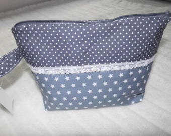 Cosmetic bag makeup bag cosmetic bag grey