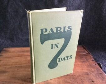 Paris in 7 Days 1926 with original map