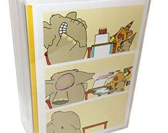Birthday Card Box Set of 48 Card & Envelopes - 48 Different Funny Birthday Cards - 724
