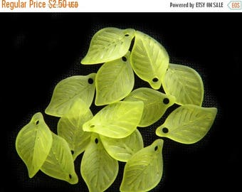 HALF PRICE 20 Light Green Lucite Leaves
