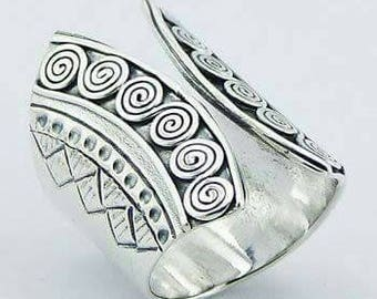 Sterling Silver Corset Ring