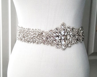 Wedding Belt, Bridal Belt, Sash Belt, Crystal Rhinestone Belt, Style 1107