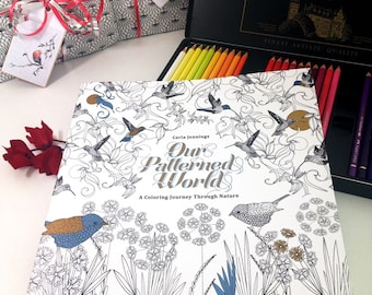 Coloring book for adults. Grownup colouring book, the perfect gift for her.