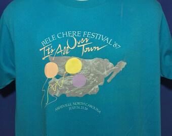 Vintage 1987 Bele Chere Asheville North Carolina Music festival t shirt *M/L